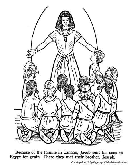 free coloring pages of joseph s coat of many colors