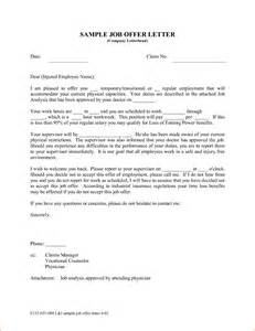 Employment Offer Letter Template Free 9 Job Offer Letter Examples Rejection Letters