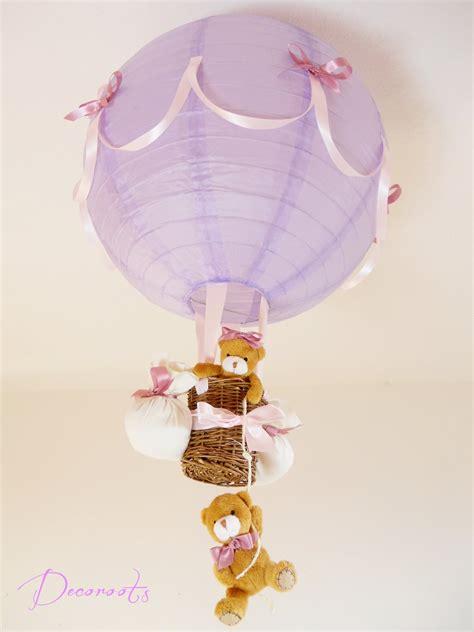 luminaire enfant fille le montgolfi 232 re enfant b 233 b 233 violet et cr 233 ation artsanale