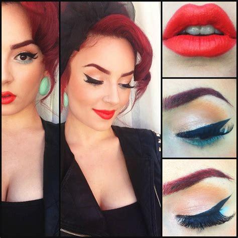 tutorial eyeliner pin up pin up makeup mugeek vidalondon