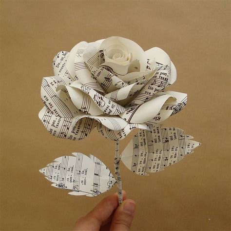 Bouquet by Music Sheet Paper Rose By Suzi Mclaughlin