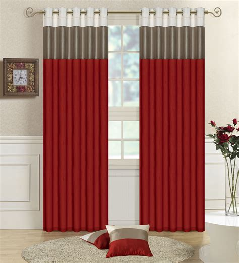 modern red curtains accessories beautiful accessories for window treatment