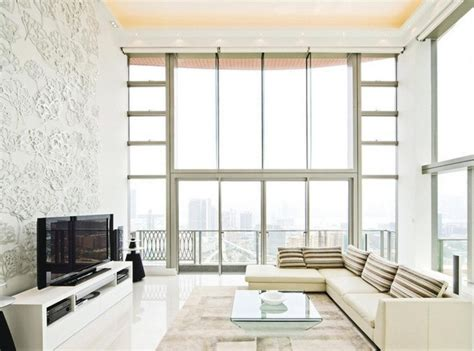minimalist living rooms minimalist living room with embossed tv wall interior design