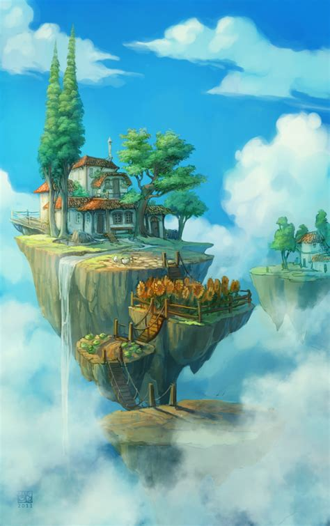 themes in a house in the sky float islands by dawnelainedarkwood on deviantart