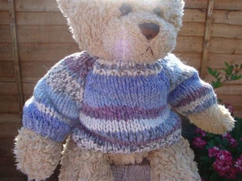 knitting pattern teddy bear chunky teddy bear sweater hand knitted fair isle