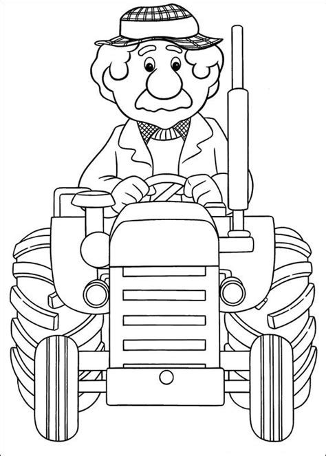 coloring page postman pat coloring pages 25