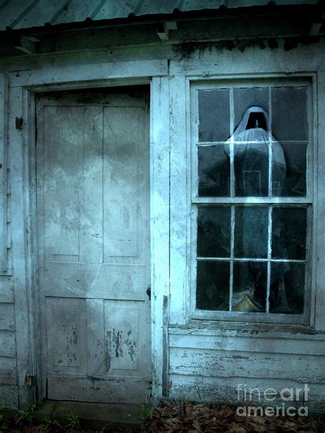 5 american haunted houses their creepy backstories surreal gothic grim reaper in window spooky haunted