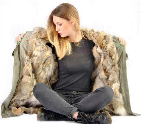 parka con pelliccia interna parka con interno in pelliccia di volpe e murmansky