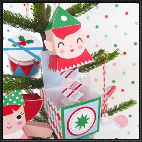 christmas jack in the box ornament free paper craft download