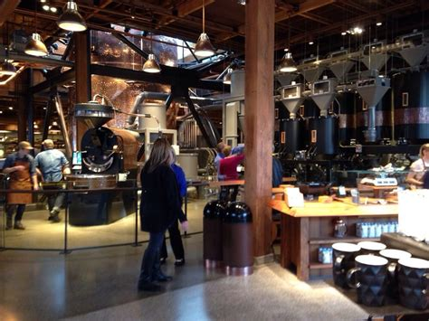 roast room they roast here this is the largest starbucks it s coffee fantasyland and in my