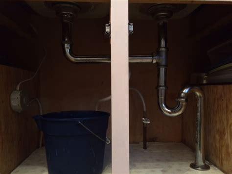 Double kitchen sink drain problem   Terry Love Plumbing
