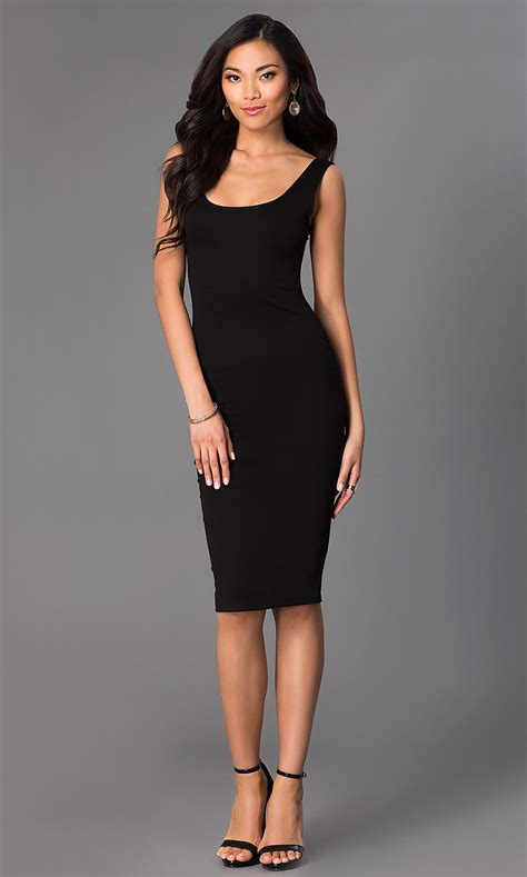 scoop neck sleeveless midi party dresses promgirl