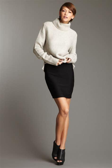 chunky sweater pencil skirt i likes