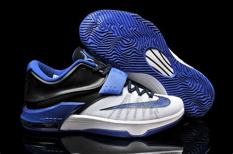 black and blue basketball shoes 2015 nike kd 7 white blue black basketball shoes purchase
