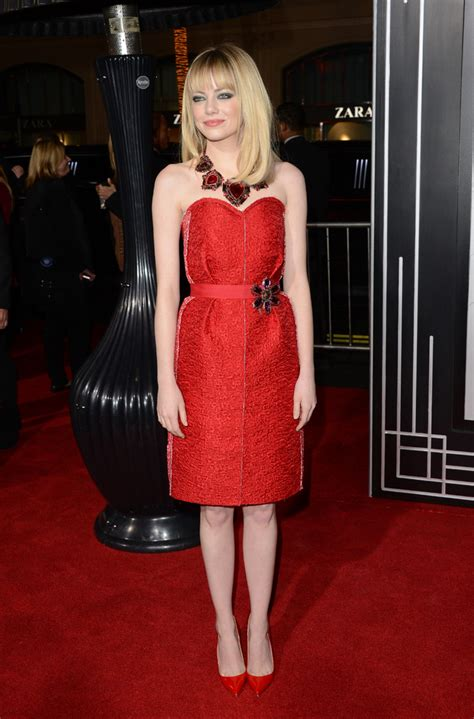 emma stone 1950s emma stone is dreamy in nude cut out gown at amazing