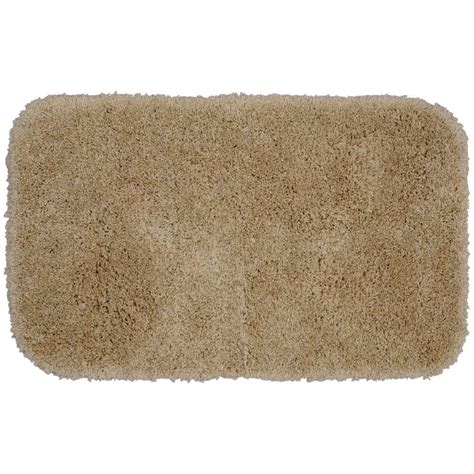 Garland Rug Serendipity Taupe 24 In X 40 In Washable Taupe Bathroom Rugs