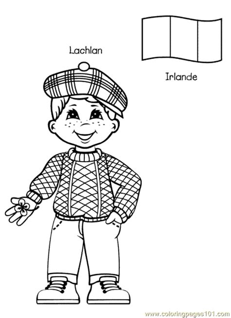 Coloring Pages Of Places Around The World | kids from around the world 011 preschool around the