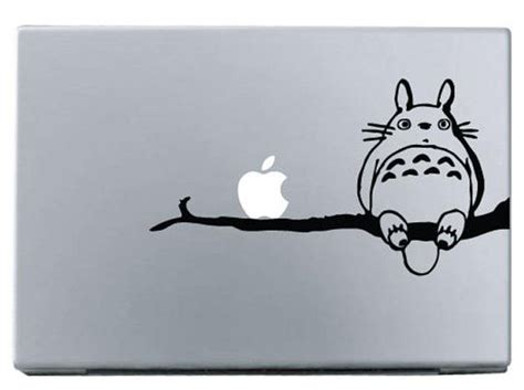 Sticker Decal Apple Mini Air Cat On Branch Rina Shop apple totoro on branch macbook decal sticke