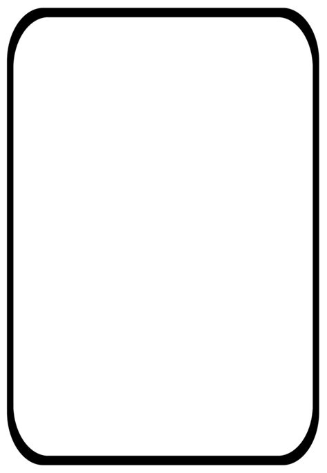 blank card template transparent blank scroll template clipart best