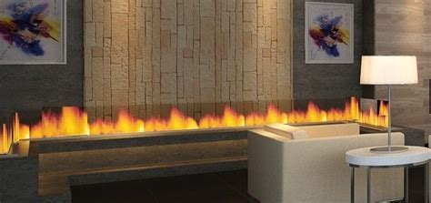 Ribbon Fireplace Insert Remote Controlled Lines And Ribbons Modulo Afire