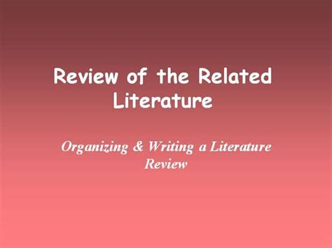 Chapter Ii Review Of Related Literature Sle by Chapter 2 Review Of Related Literature Authorstream