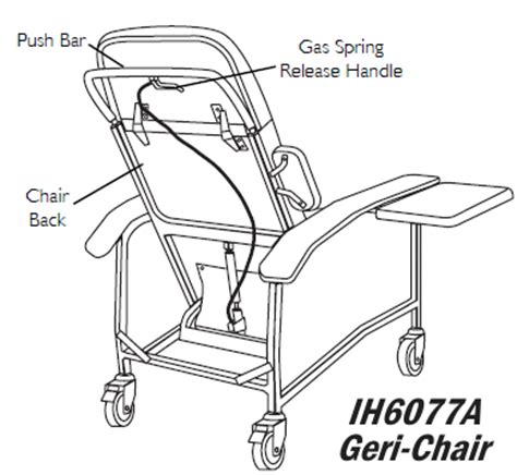 Invacare Geri Chair Parts by Invacare Ih6077a Geriatric Recliner Chair Clinical Geri