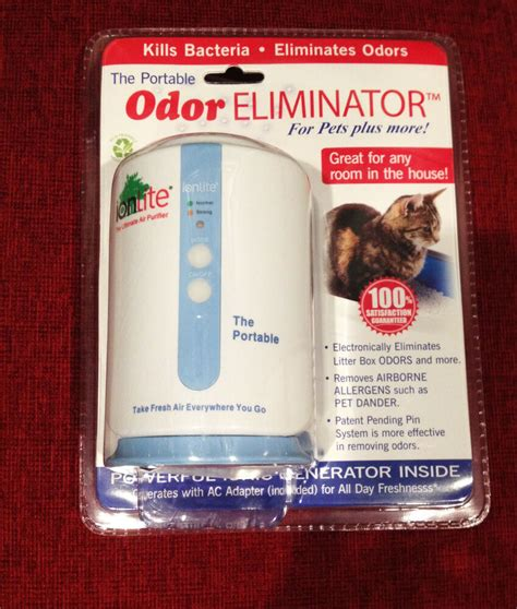 ionlite power clean air purifier travel hotel ionizer pet smoke odor eliminator ebay