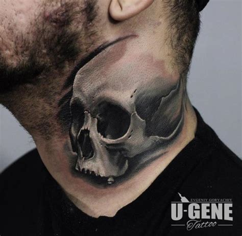 skull neck tattoos skull neck by redberry