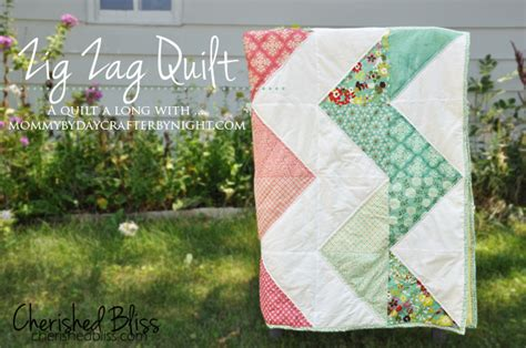 zig zag rag quilt pattern my first quilt cherished bliss