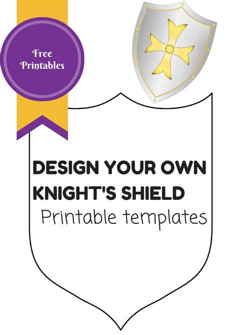 template of knights shield easy knights costume no sew in the playroom