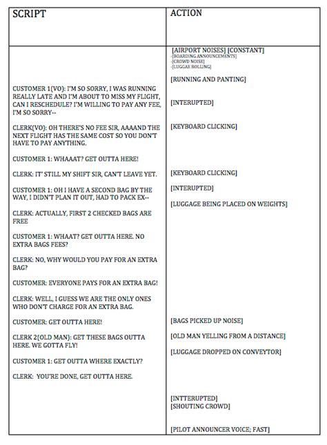 radio script template adva215a southwest airlines class on behance