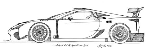 lexus lfa drawing how to draw lexus lfa