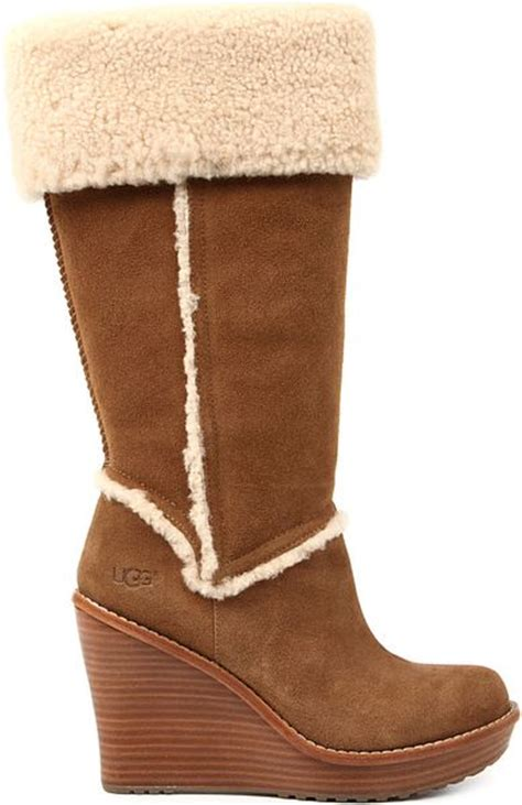 ugg aubrie knee high boots in brown lyst