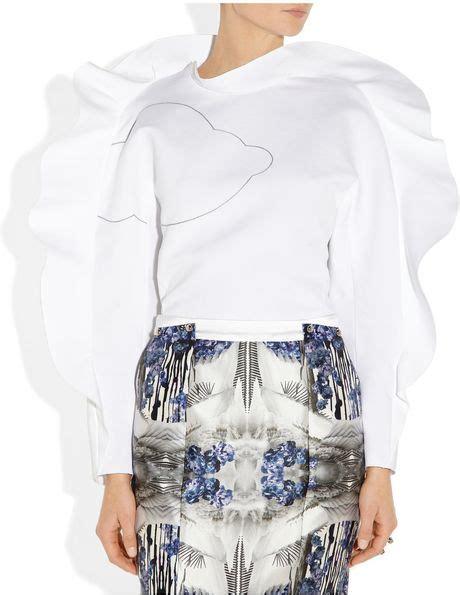 Vika Blouse T2909 2 vika gazinskaya ruffle trimmed embroidered cotton blouse in white lyst