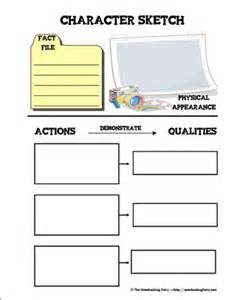 character outline template character sketch notebooking pages