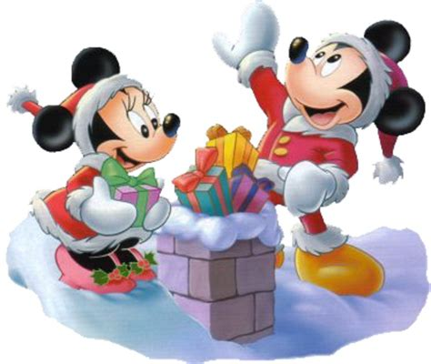 mickey minnie mouse christmas gifts chimney wallpaper