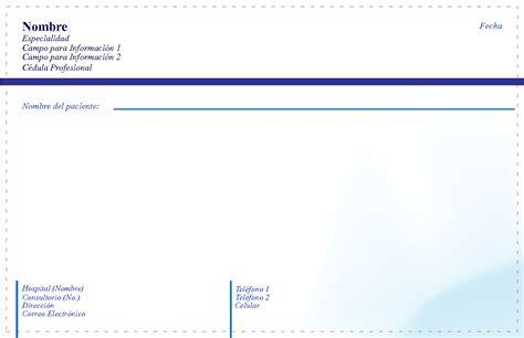 imagenes de recetas medicas para imprimir impresion recetas medicas