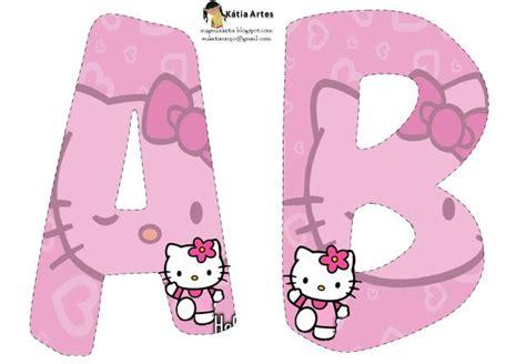printable hello kitty letters alfabeto de hello kitty en fondo rosa hello kitty pink