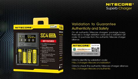 nitecore charger baterai 4 slot li ion nimh sc4 black jakartanotebook