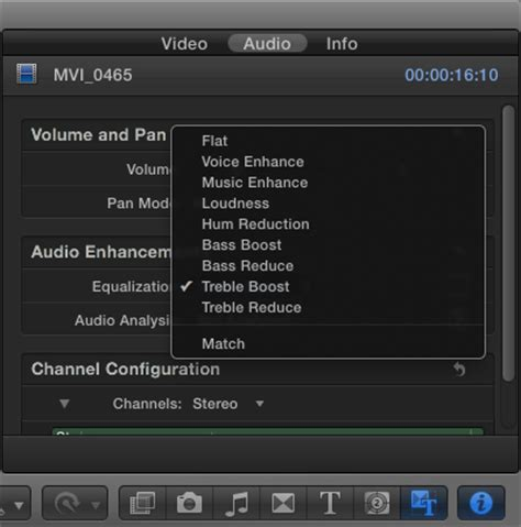 final cut pro unlink audio and video fcp x audio tutorial part 4 enhancing audio using final