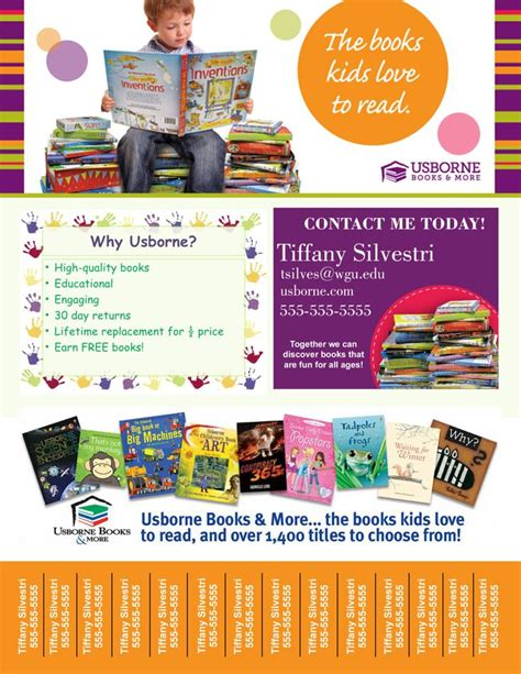digital usborne books tear off printable flyer book