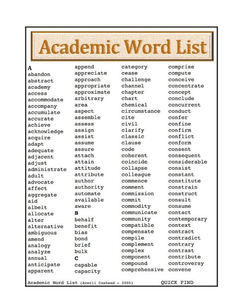 academic vocabulary in use 17 best images about gt vocabulary on writers notebook four square and student