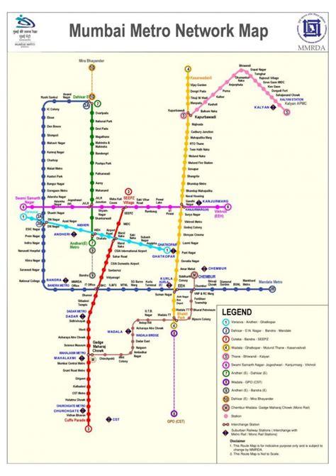 Mumbai Metro Trains 2017 - Routes | Timetable | Fares ...