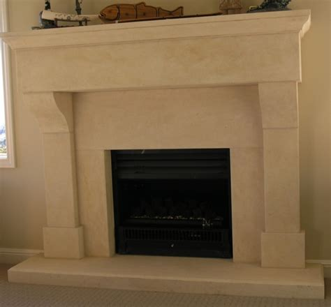 Provincial Fireplaces by Provincial Fireplace With Large Block Lintel Carved In Oamaru Limestone With Aged Patina