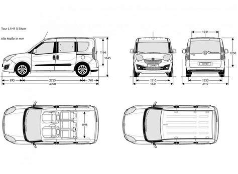fiat doblo dimensioni interne dimensioni interne fiat doblo automobili image idea