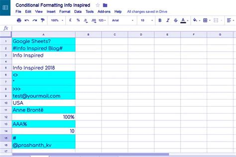 formula tutorial google sheets how to highlight cells containing special characters in