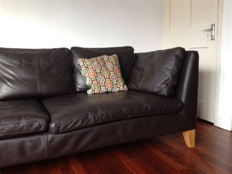 Stockholm Leather Sofa Ikea Stockholm Three Seat Sofa Leather For Sale In Killester Dublin From Lardossan
