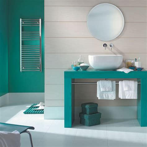 tendance une salle de bain en turquoise