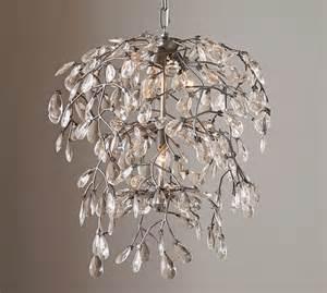 Bella crystal round chandelier pottery barn