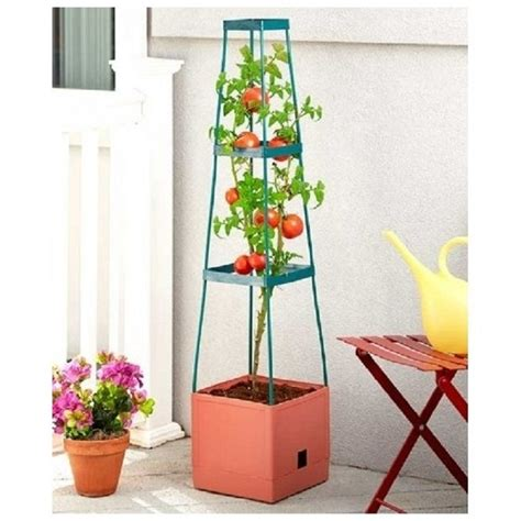 Planter Tower by Grow Tower Trellis Support Tower For Tomatoes Flowers 3 Tier Plant Cage Planters Pots